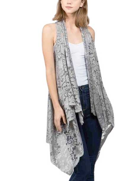 wholesale Vests - Lace Design 9121