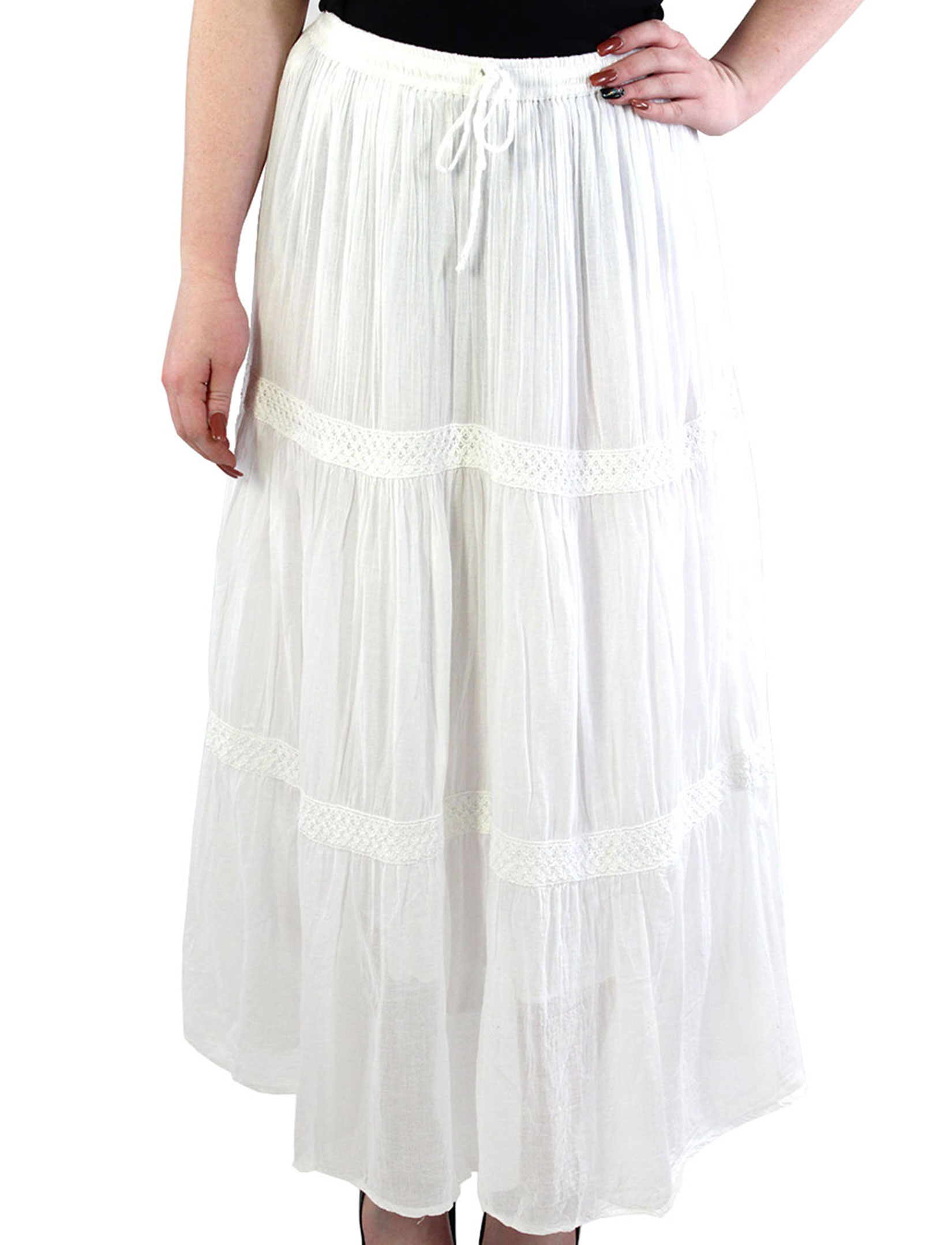 wholesale Classic White Skirt - Tiered 11590