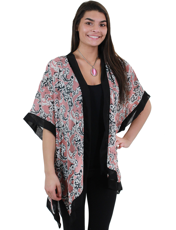 Chiffon Kimono - Black Border 9301