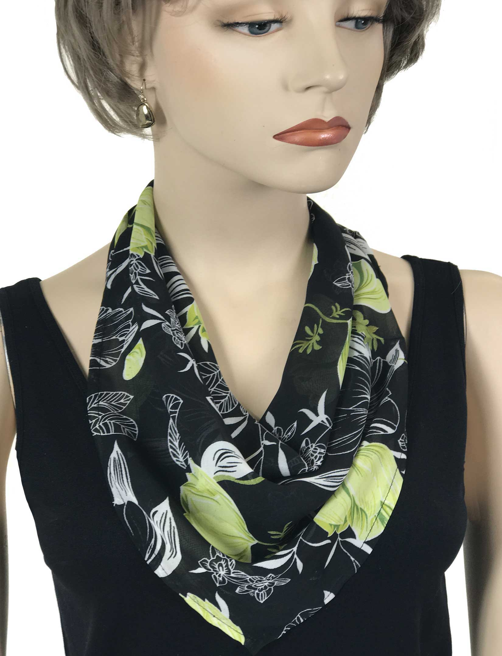 wholesale Magnetic Clasp Scarves (Georgette Triangle)