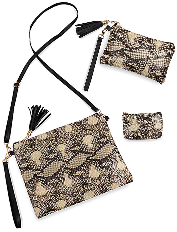 wholesale Suede/Vinyl Crossbody Bags, Wristlets+Coin Purses