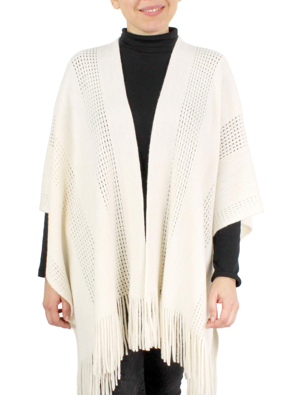 wholesale Ruana Capes - Knit Solid Color 9548