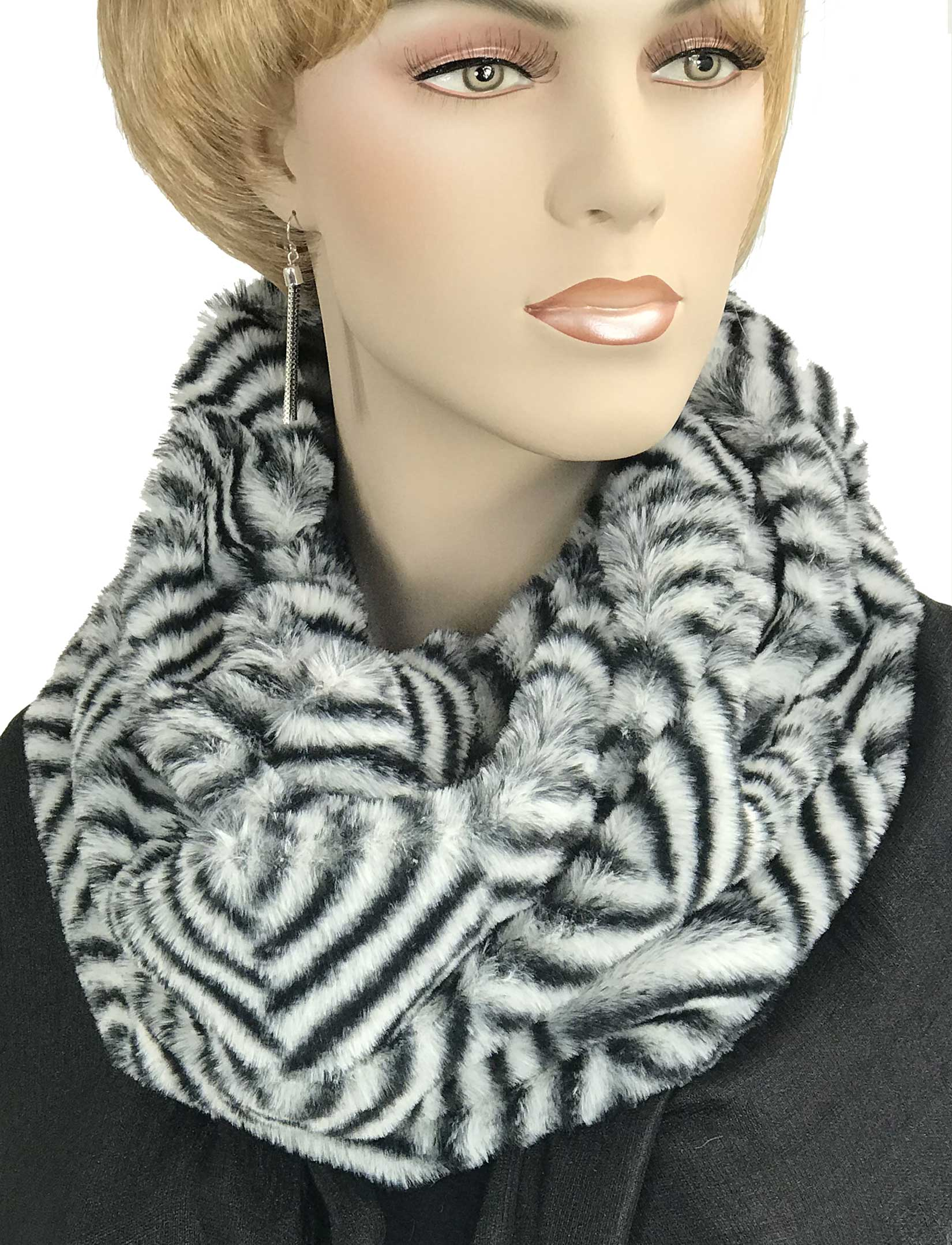 wholesale Faux Fur Cowl Neck Scarves