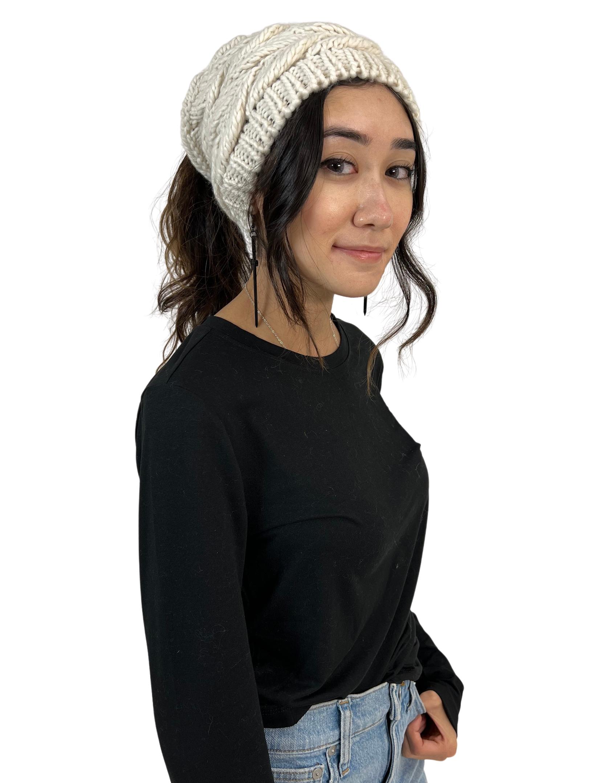 wholesale Knit Beanie - Ponytail  Messy Bun Style