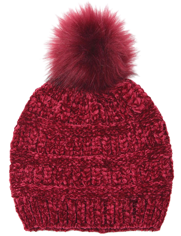 wholesale Knit Beanie - Chenille Pom Pom 9517