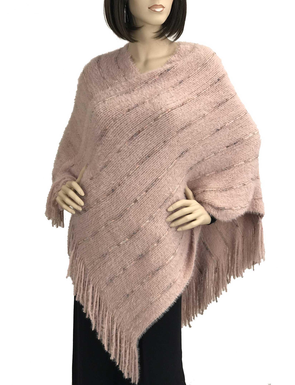 wholesale Poncho - Eyelash Knit 9467