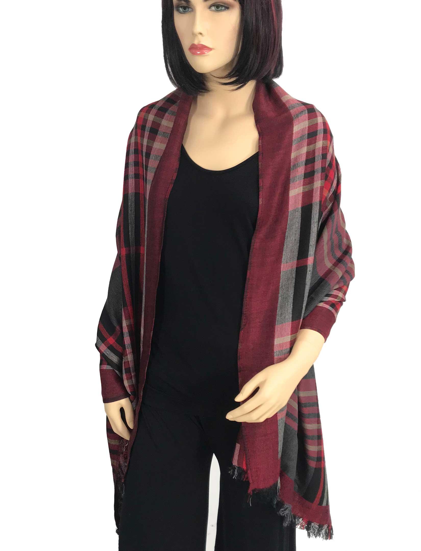 wholesale Oblong Scarves/Shawls - Plaid 9525