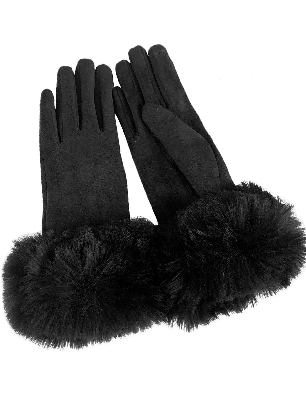 wholesale Gloves - Faux Rabbit Trim LC02