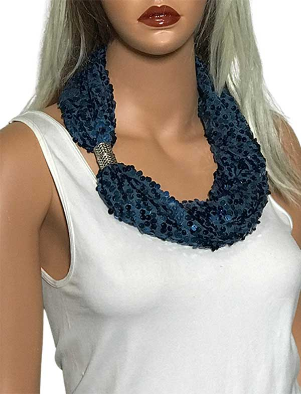 wholesale Magnetic Clasp Scarves (Sequined)