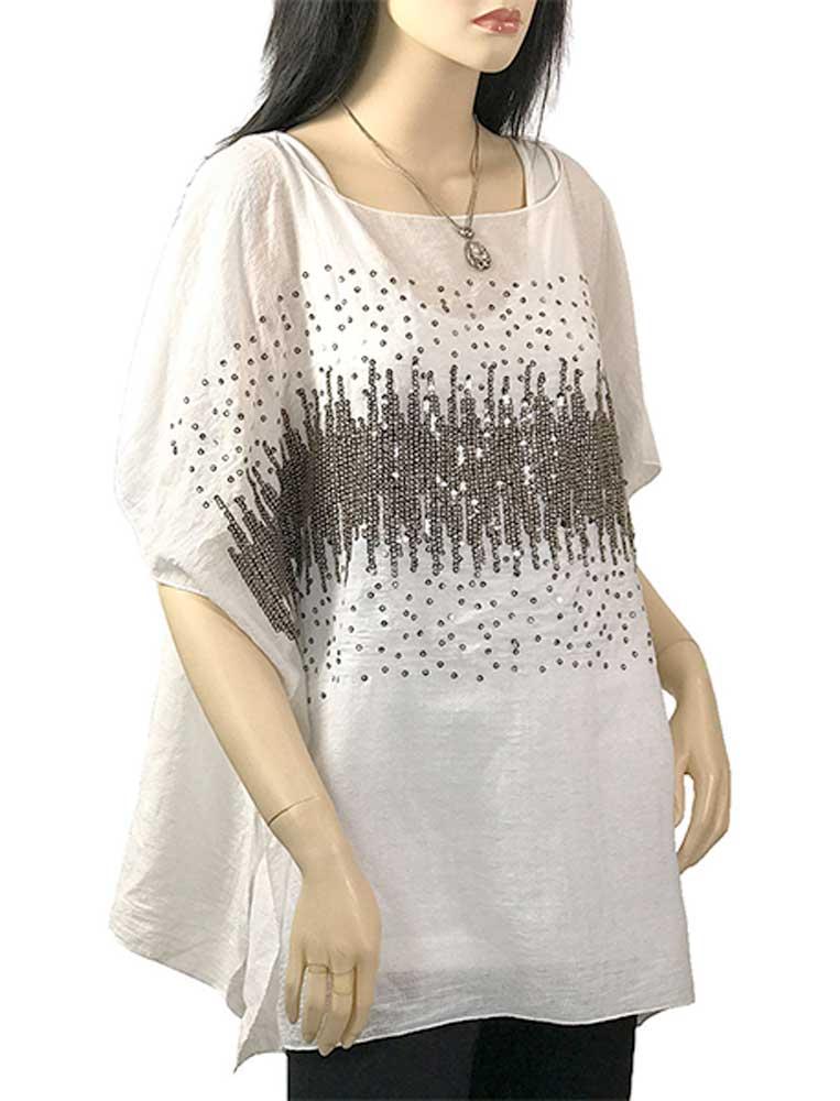Sparkle Poncho - Cotton Feel 1587
