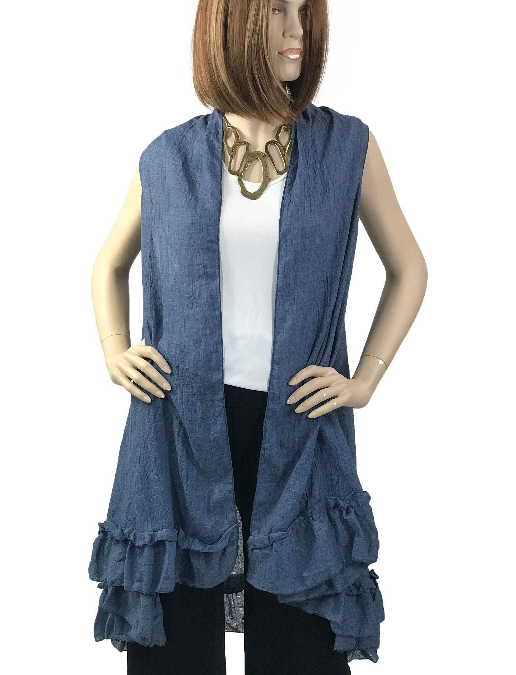 wholesale Vests - Summer Weight w/ Ruffled Bottom 1350