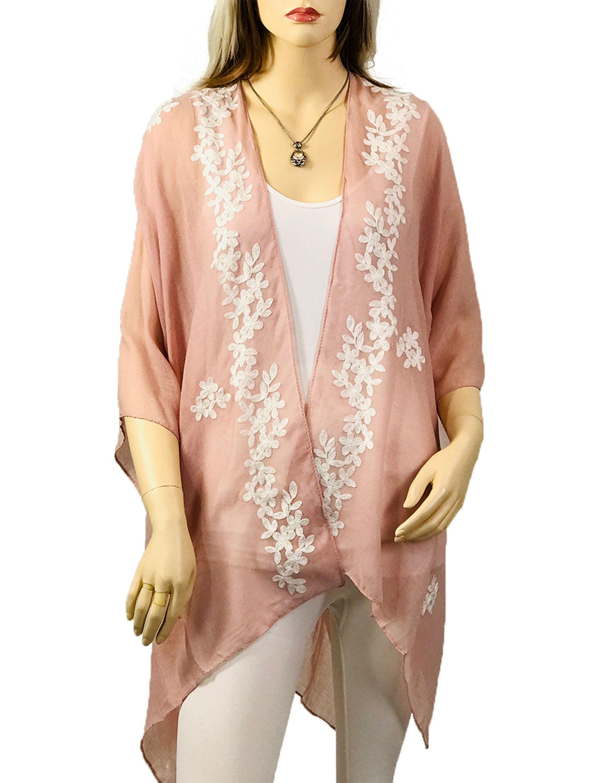 wholesale Kimono - Embroidered Floral 901