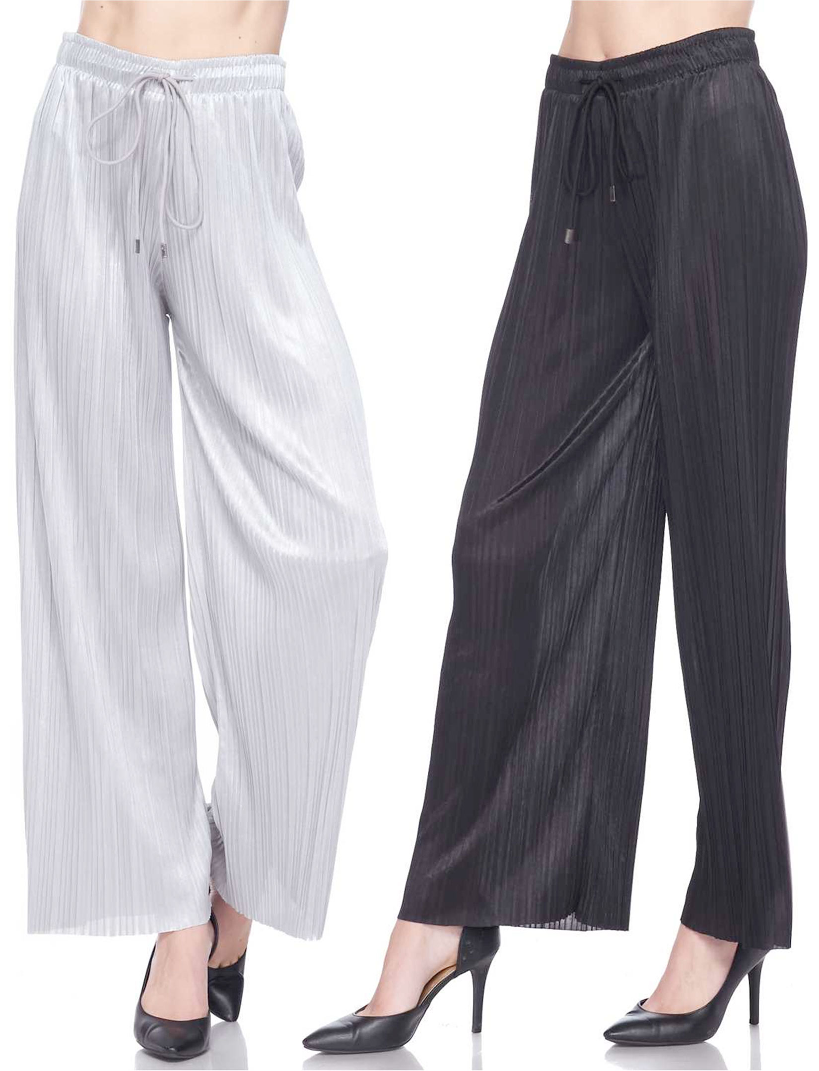 wholesale Pleated Wide Leg Pants - Shimmer