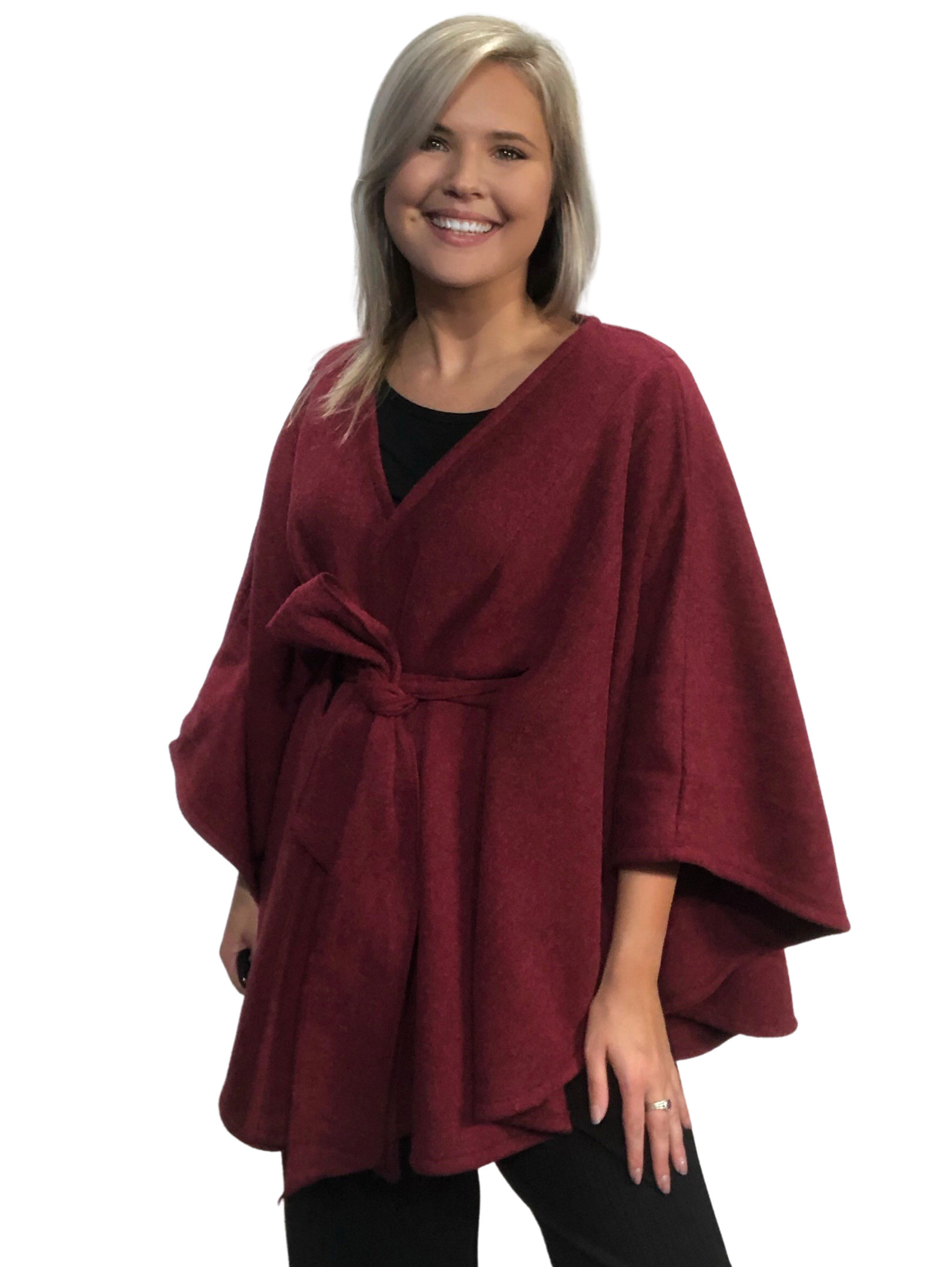 wholesale Capes - Luxury Wool Feel / Belted LC15