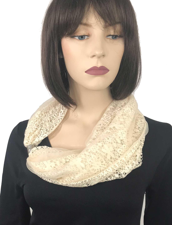 wholesale Magnetic Clasp Scarves (Chiffon Double Lace)