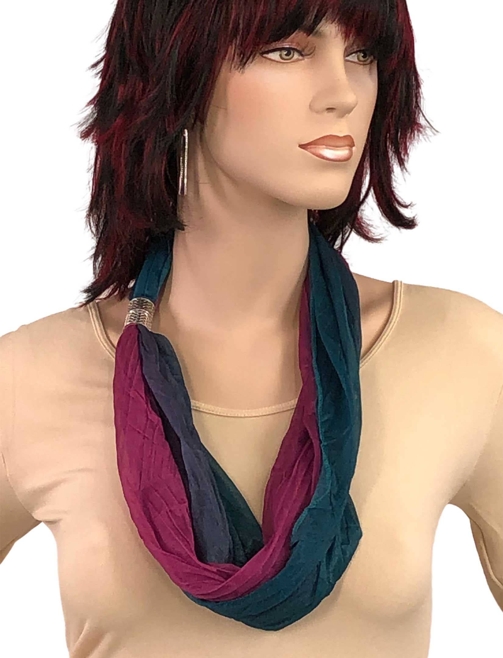 wholesale Magnetic Clasp Scarves (Crinkled Ombre 4012)