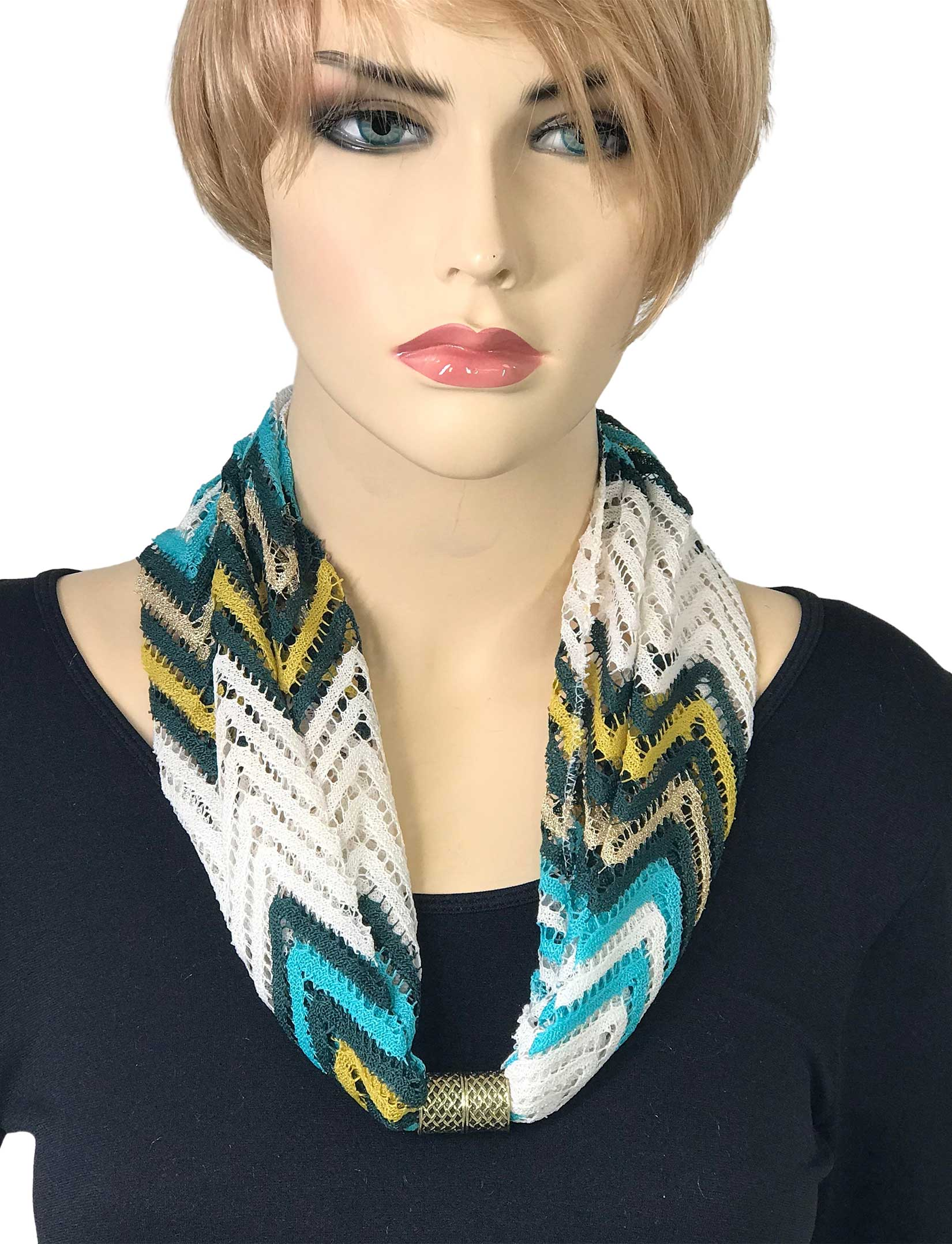 wholesale Magnetic Clasp Scarves (Chevron Lace)