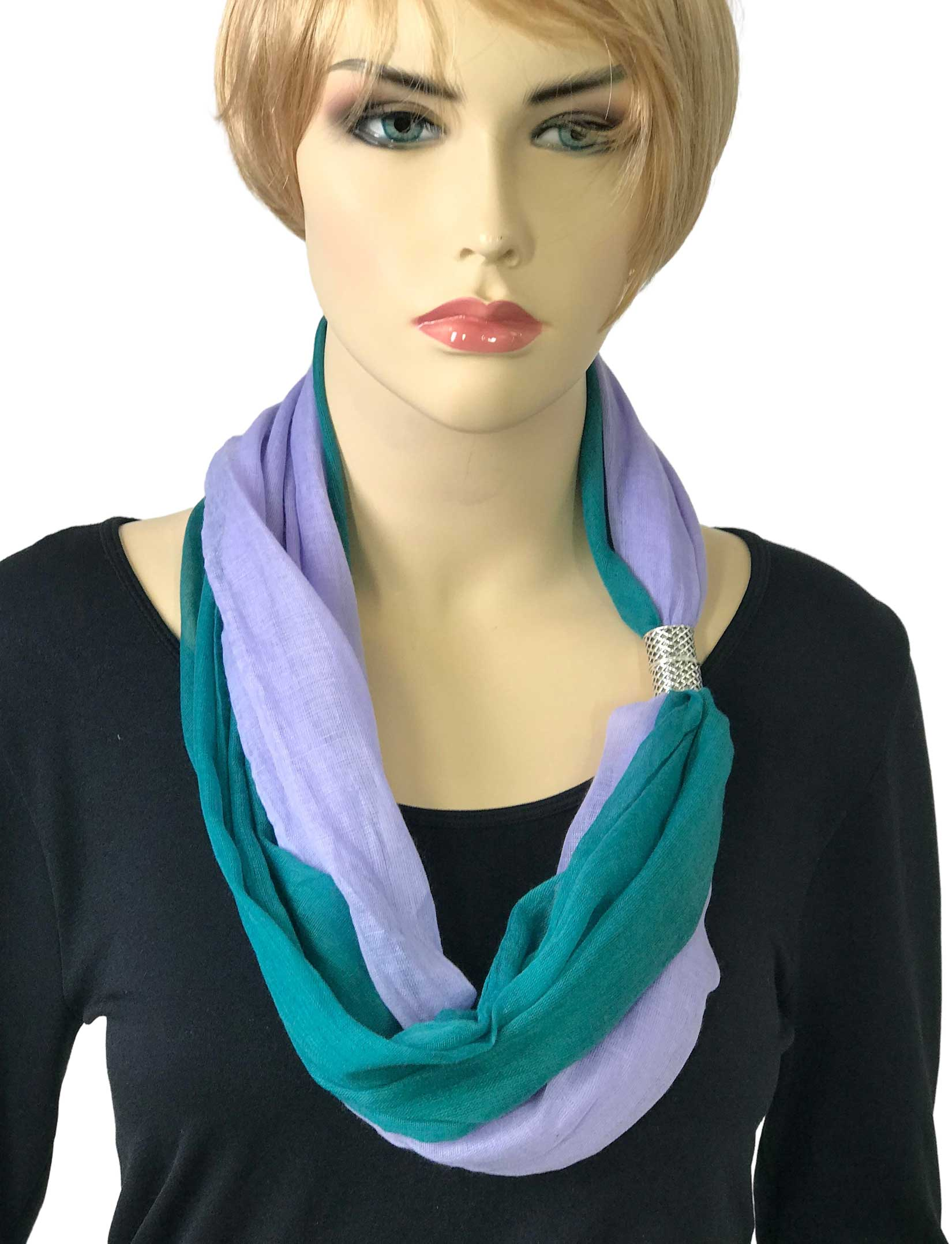 wholesale Magnetic Clasp Scarves (Two Layer)