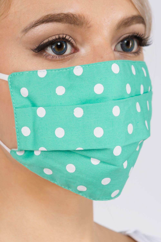 wholesale Protective Masks - Pleated Polka Dots