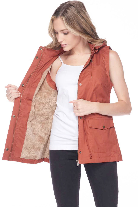 wholesale Safari Vest  - Fur Lined  8557