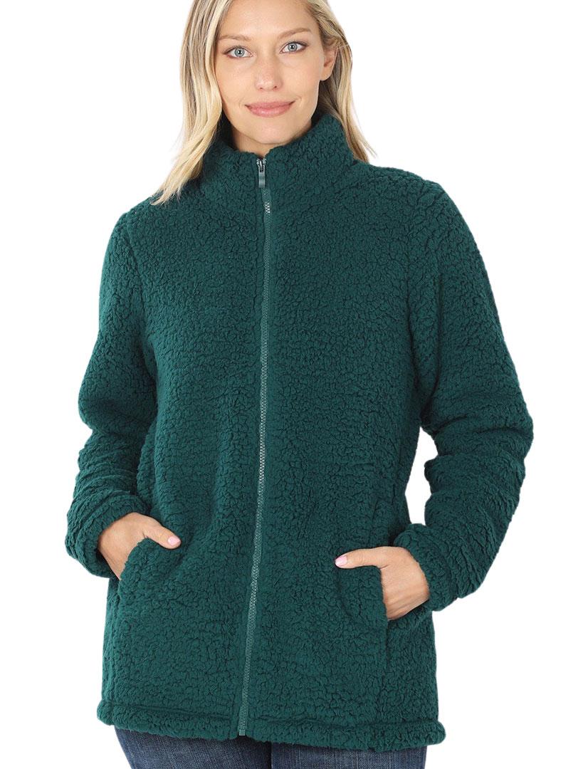 wholesale Jacket - Sherpa Zipper Front w/Pockets 2827