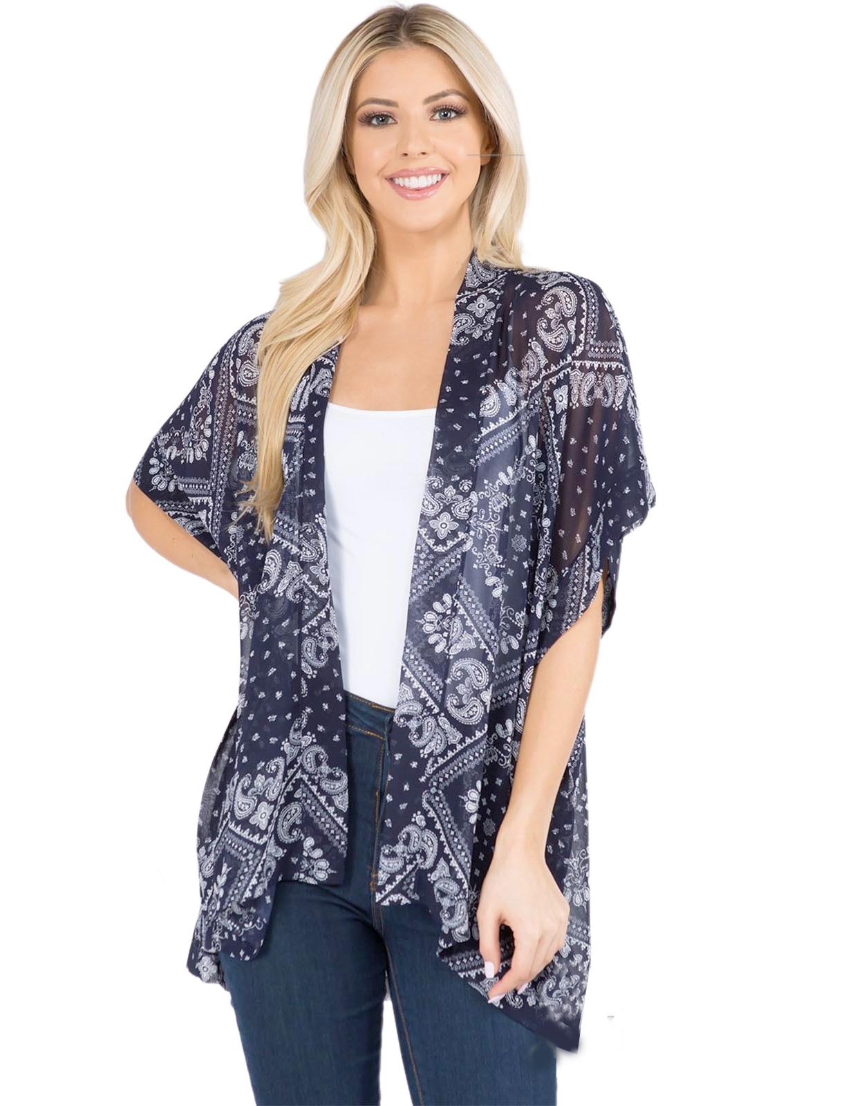 wholesale Kimono - Paisley Bandana Print 3101