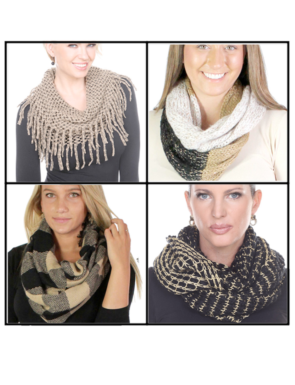 wholesale Fall/Winter Infinity Scarves - Woven and Knit 3525