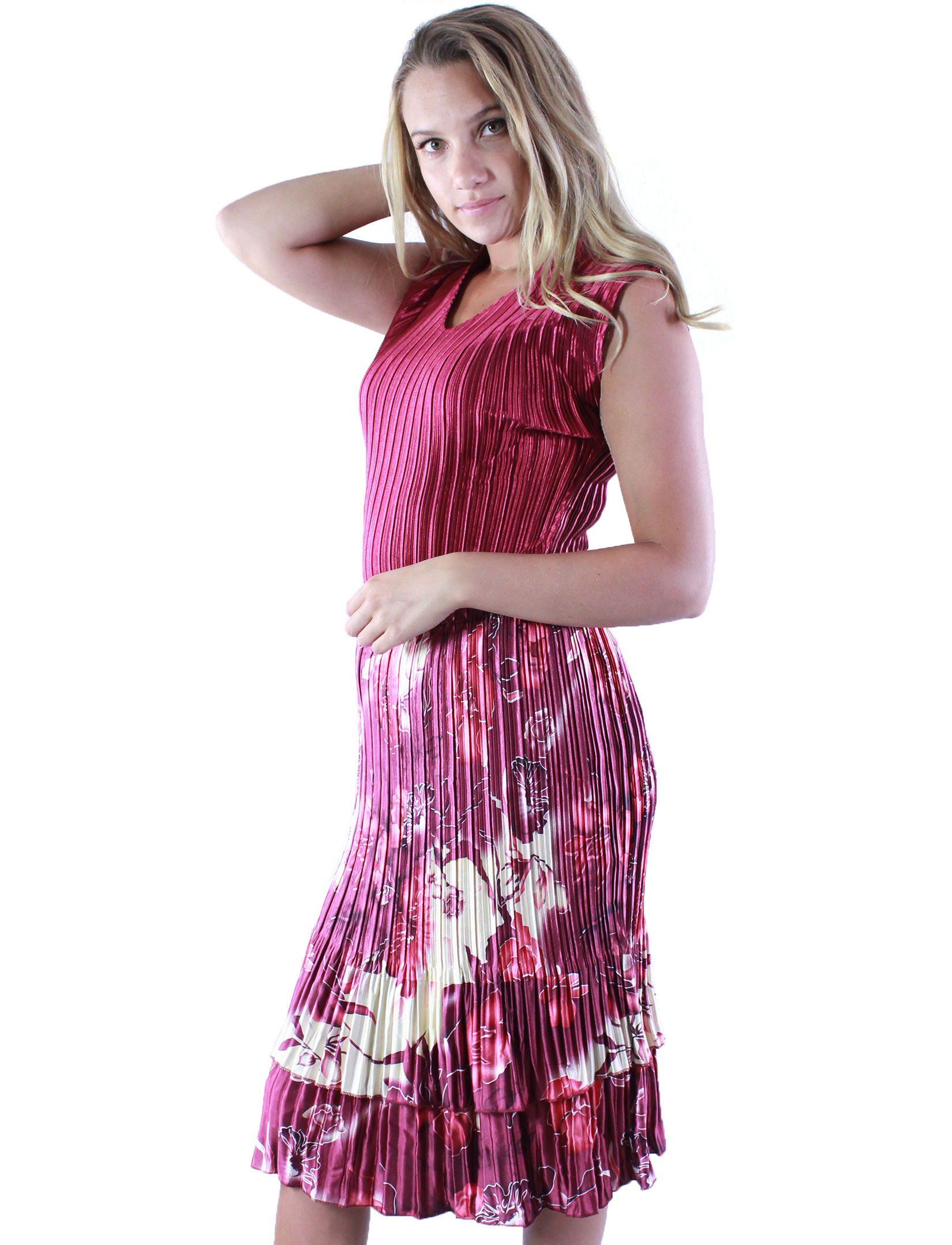 wholesale Skirts - Satin Mini Pleat Tiered*