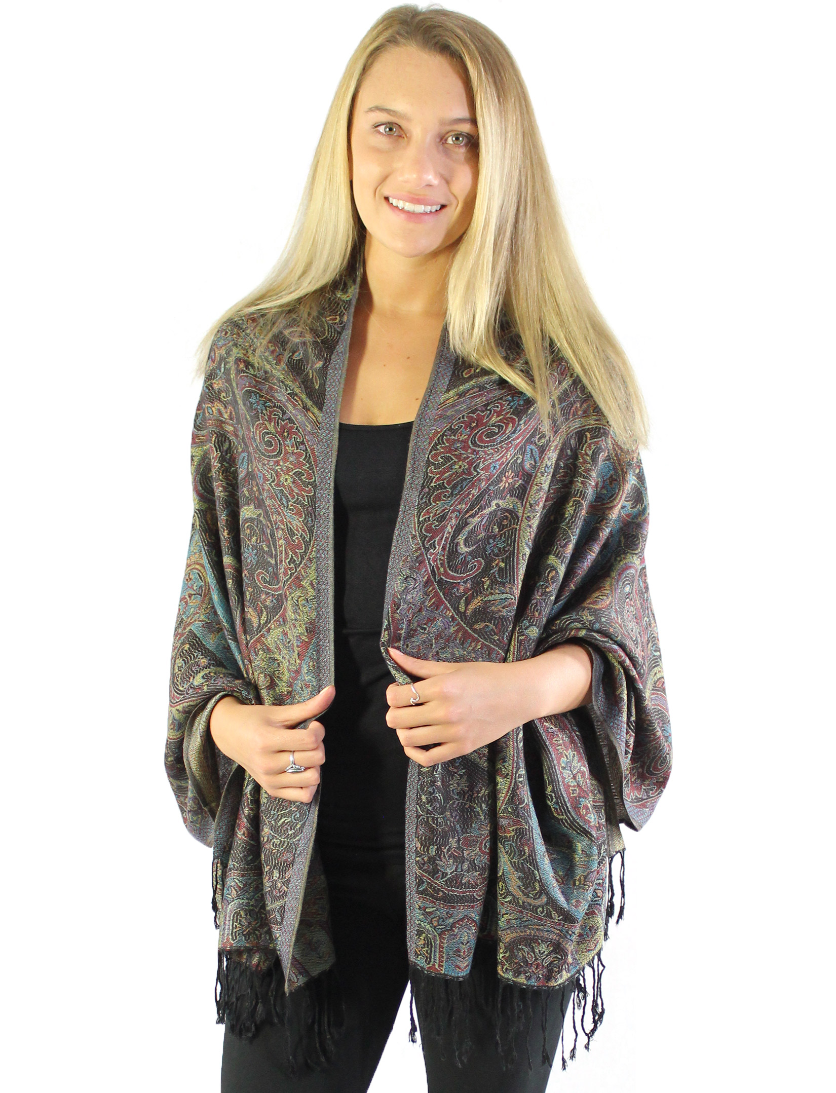 Pashmina Style Shawls - Woven Solids & Prints