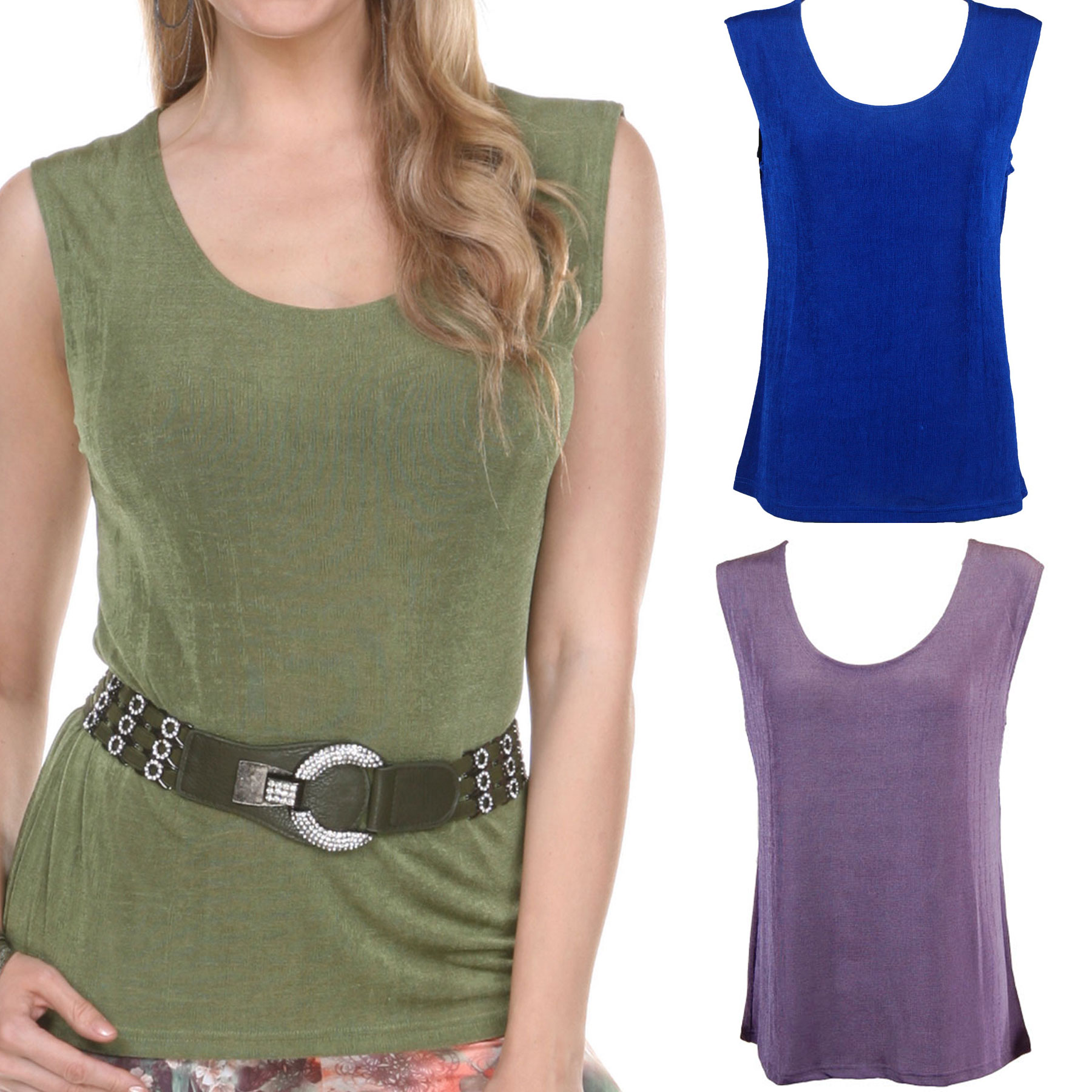 Slinky Travel Tops - Sleeveless*
