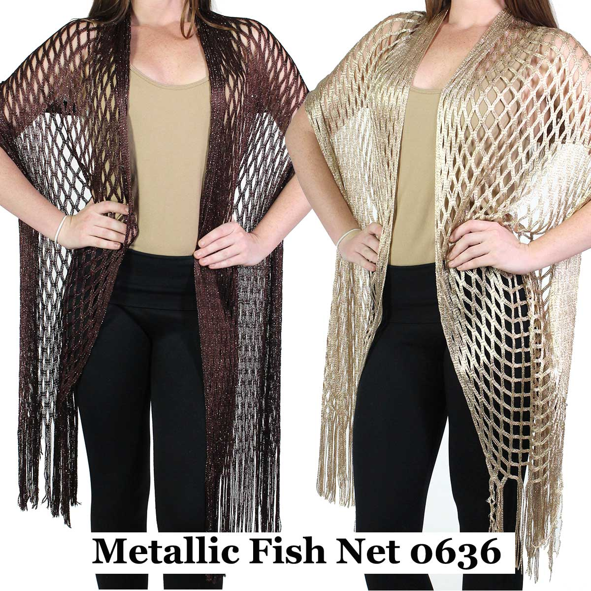 Shawls - Metallic Fishnet 0636