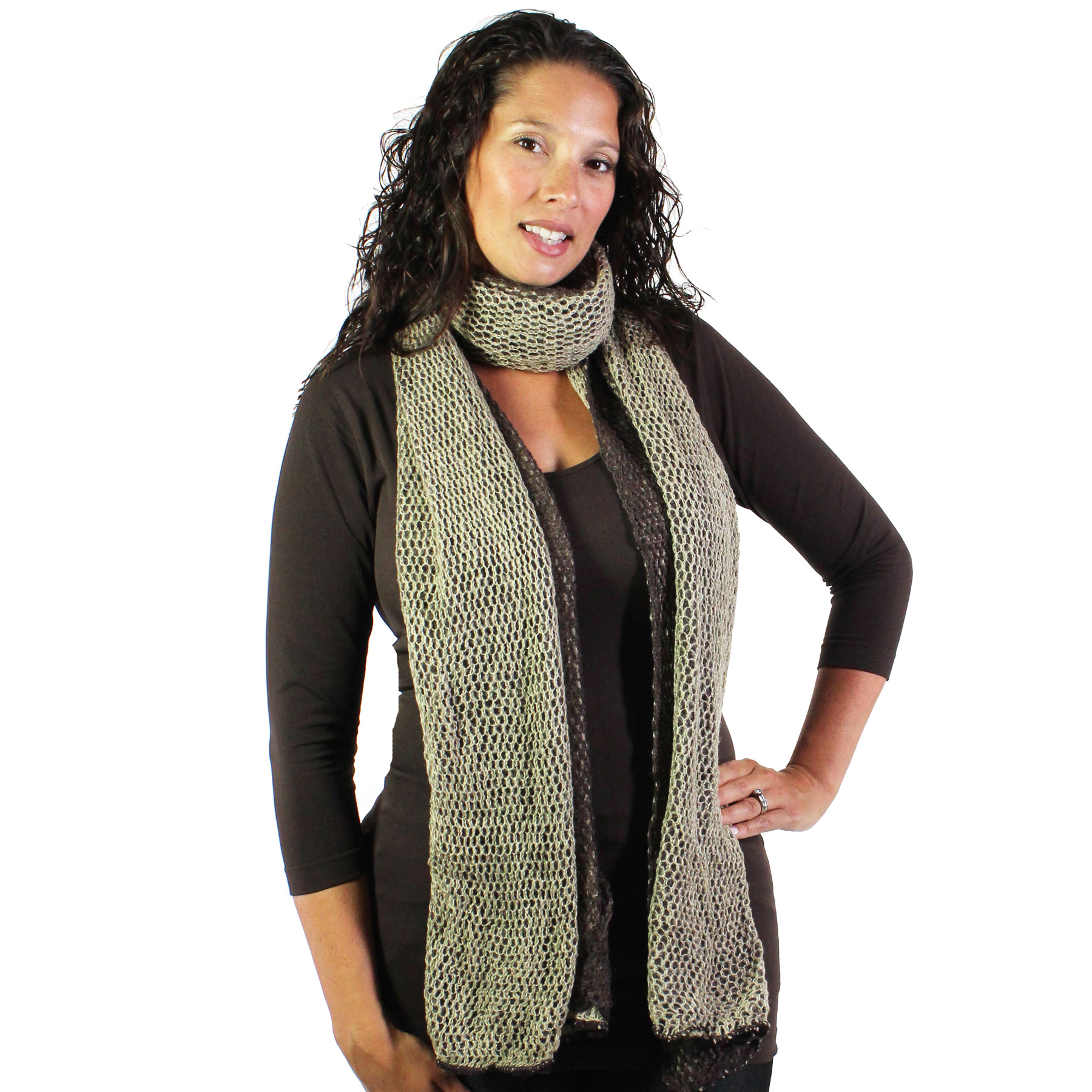 C Oblong Scarves - 3 in 1 Crochet Two-Ply 8086