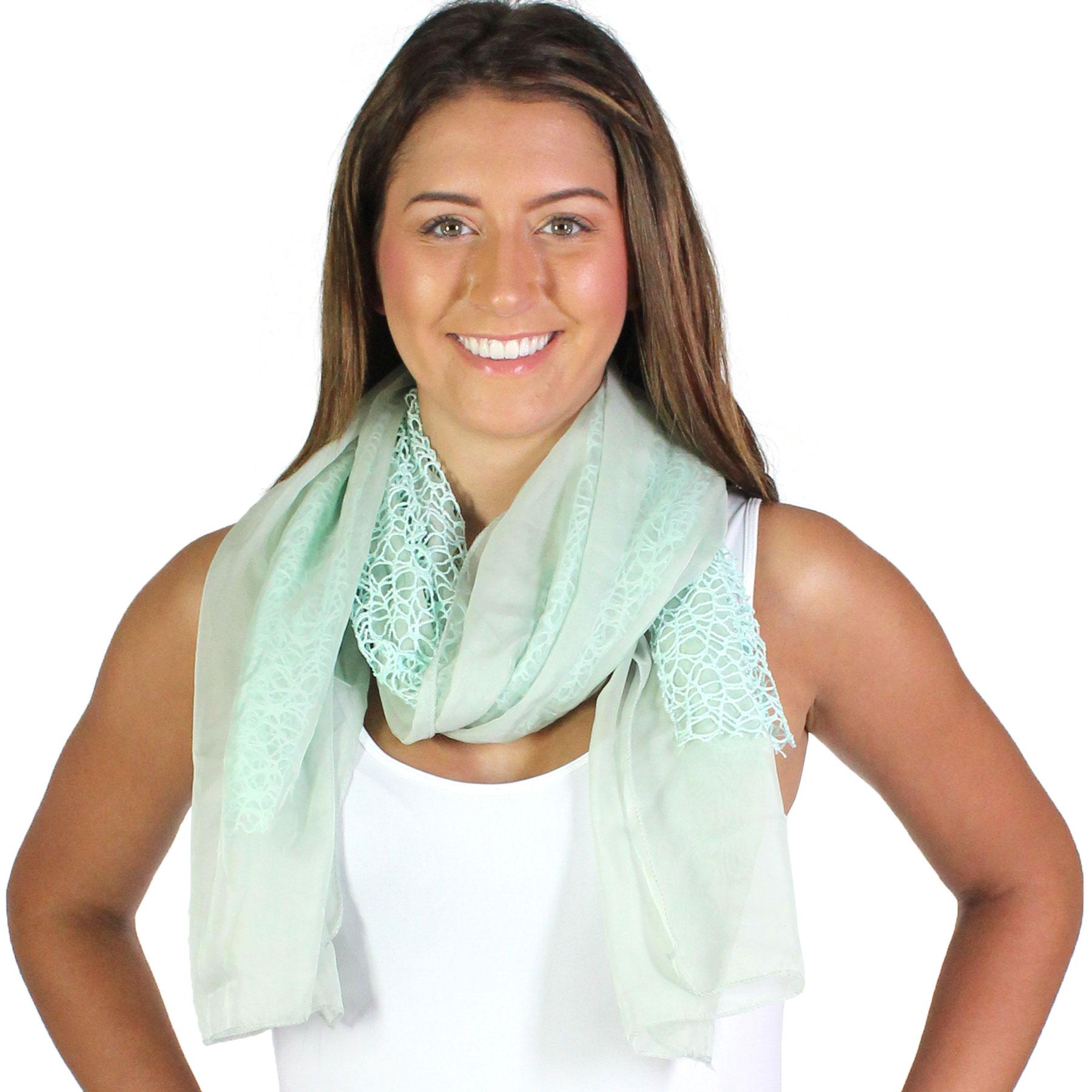 Oblong Scarves - Crochet Chiffon 3165*