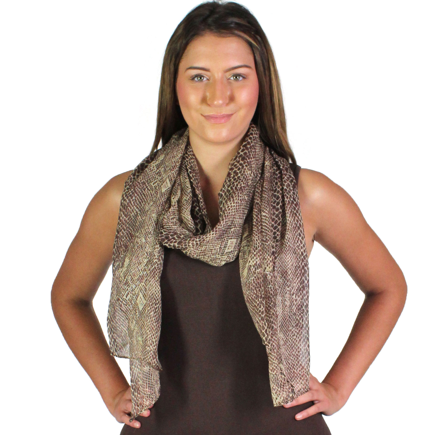 Oblong Scarves - Snake Skin 4117*