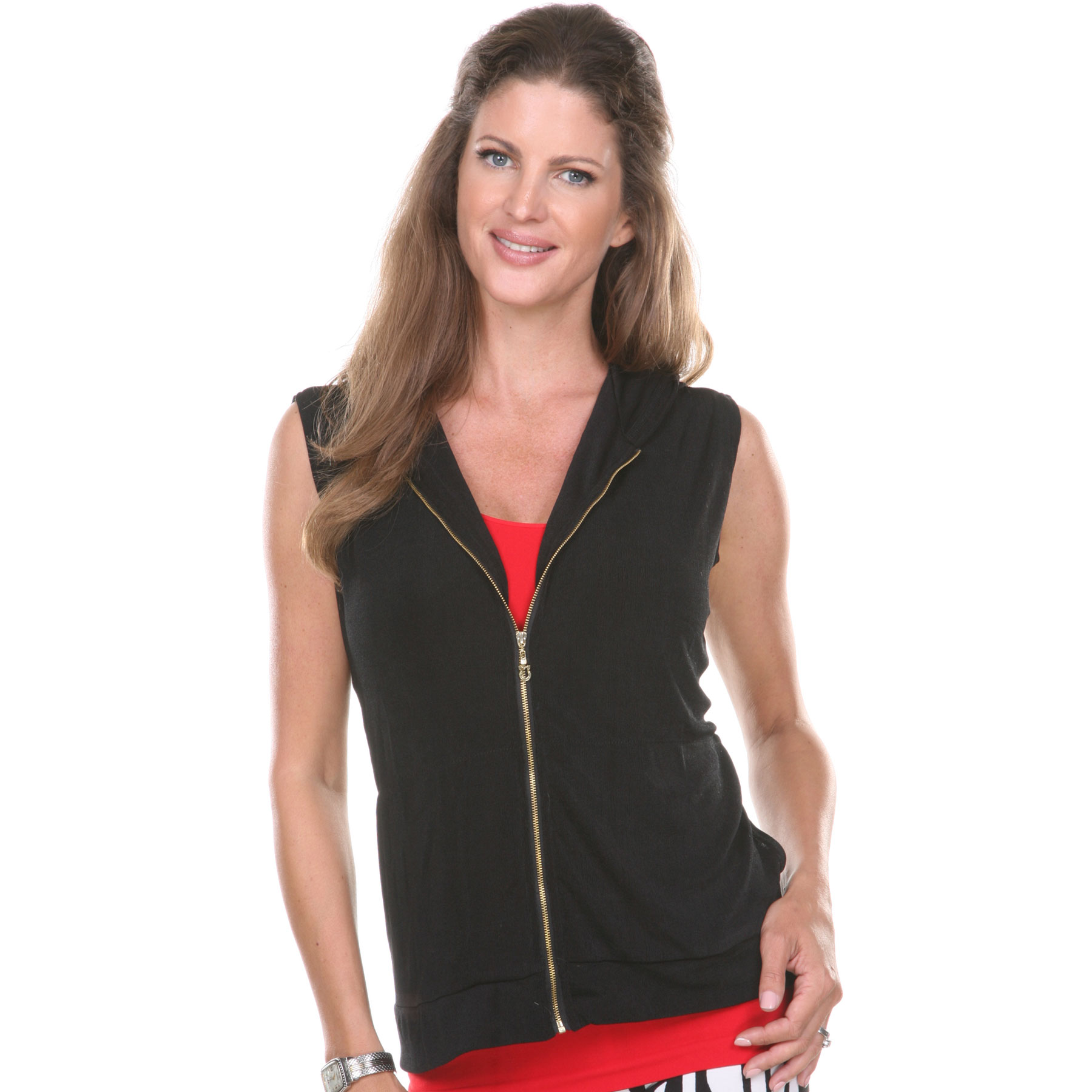 Slinky Travel Zipper Vest with Hood*