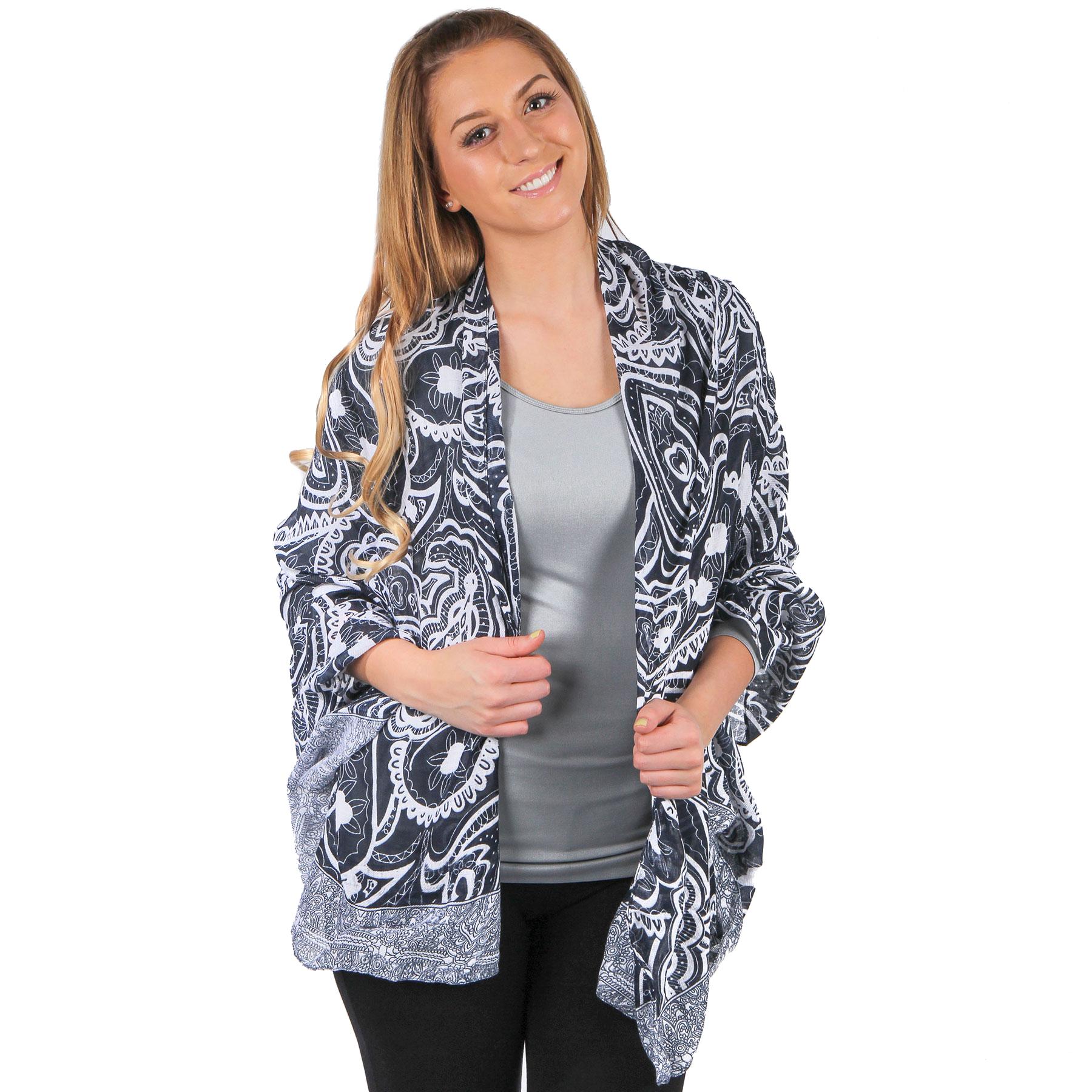 Big Scarves/Shawls - Abstract Paisley Design 4345*