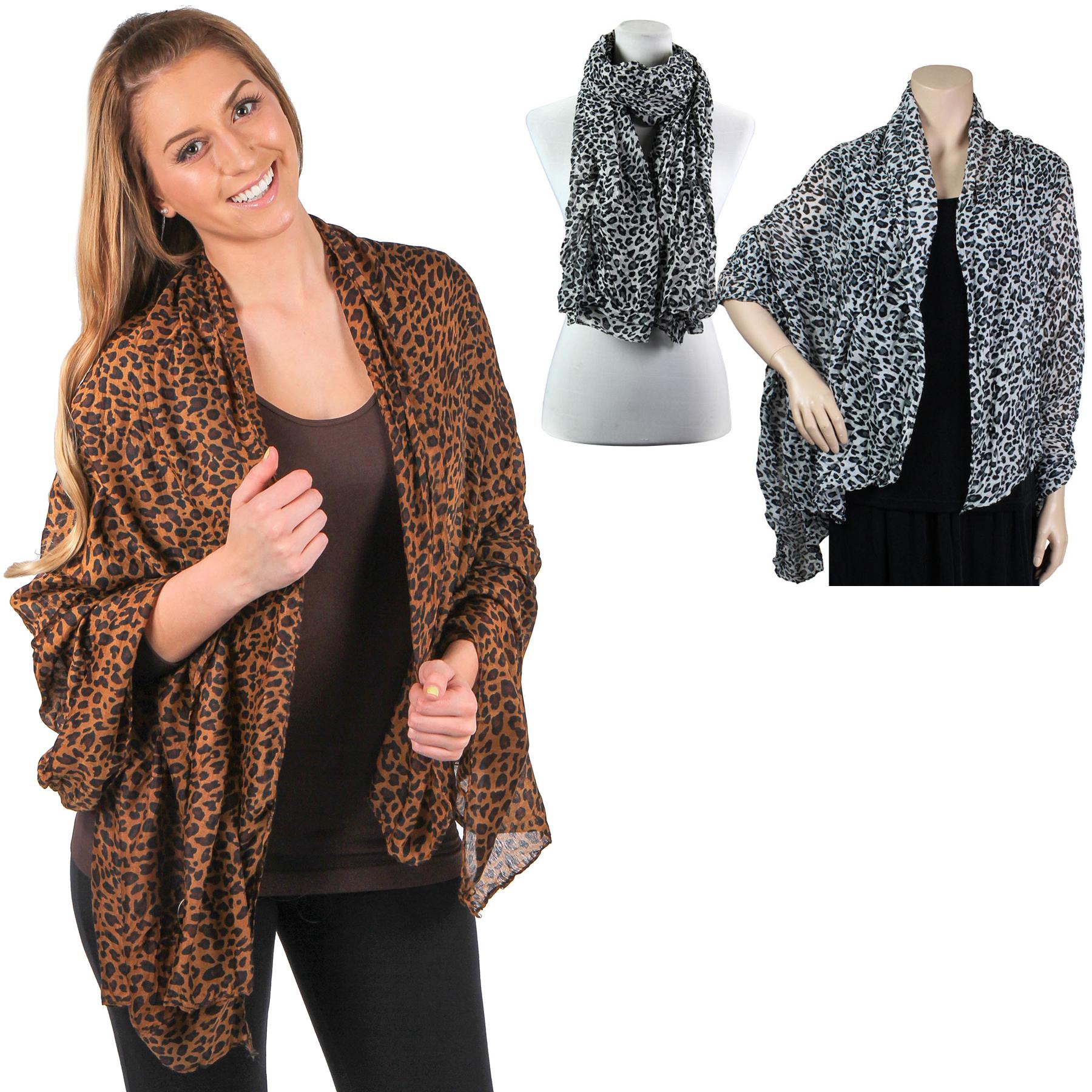 Big Scarves/Shawls - Leopard Print 4123*