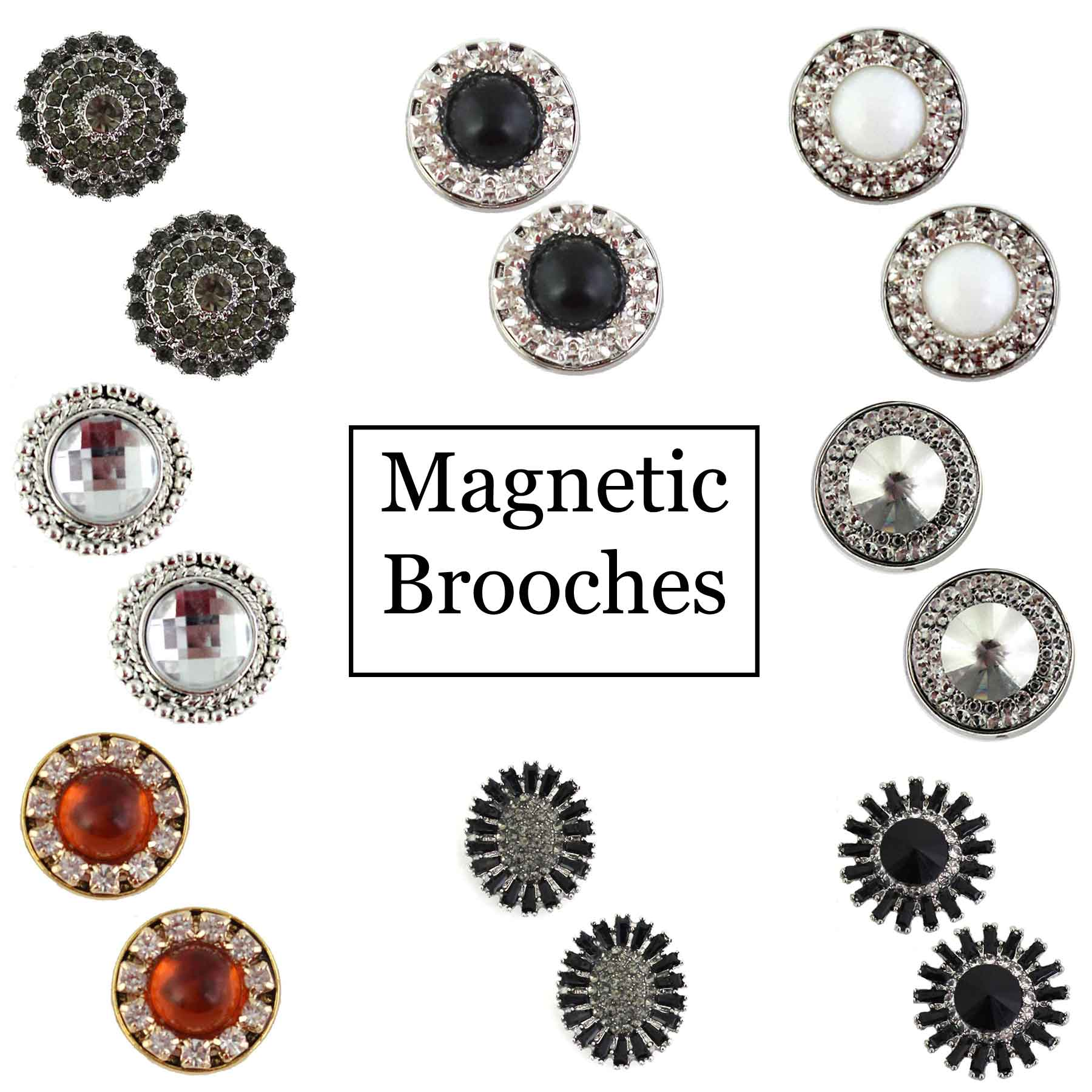 Magnetic Brooches - Small Double Sided