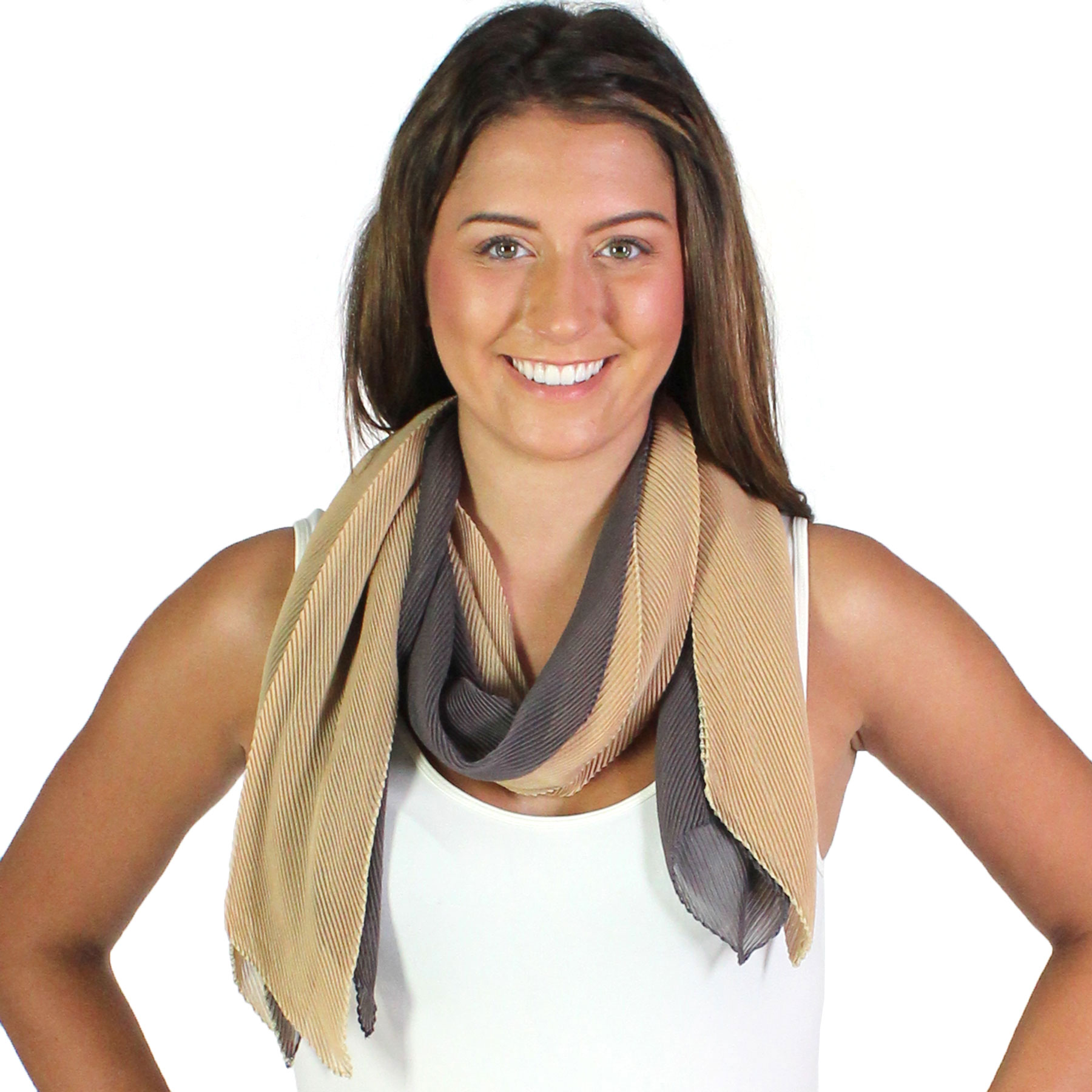 Oblong Scarves - Pleated*