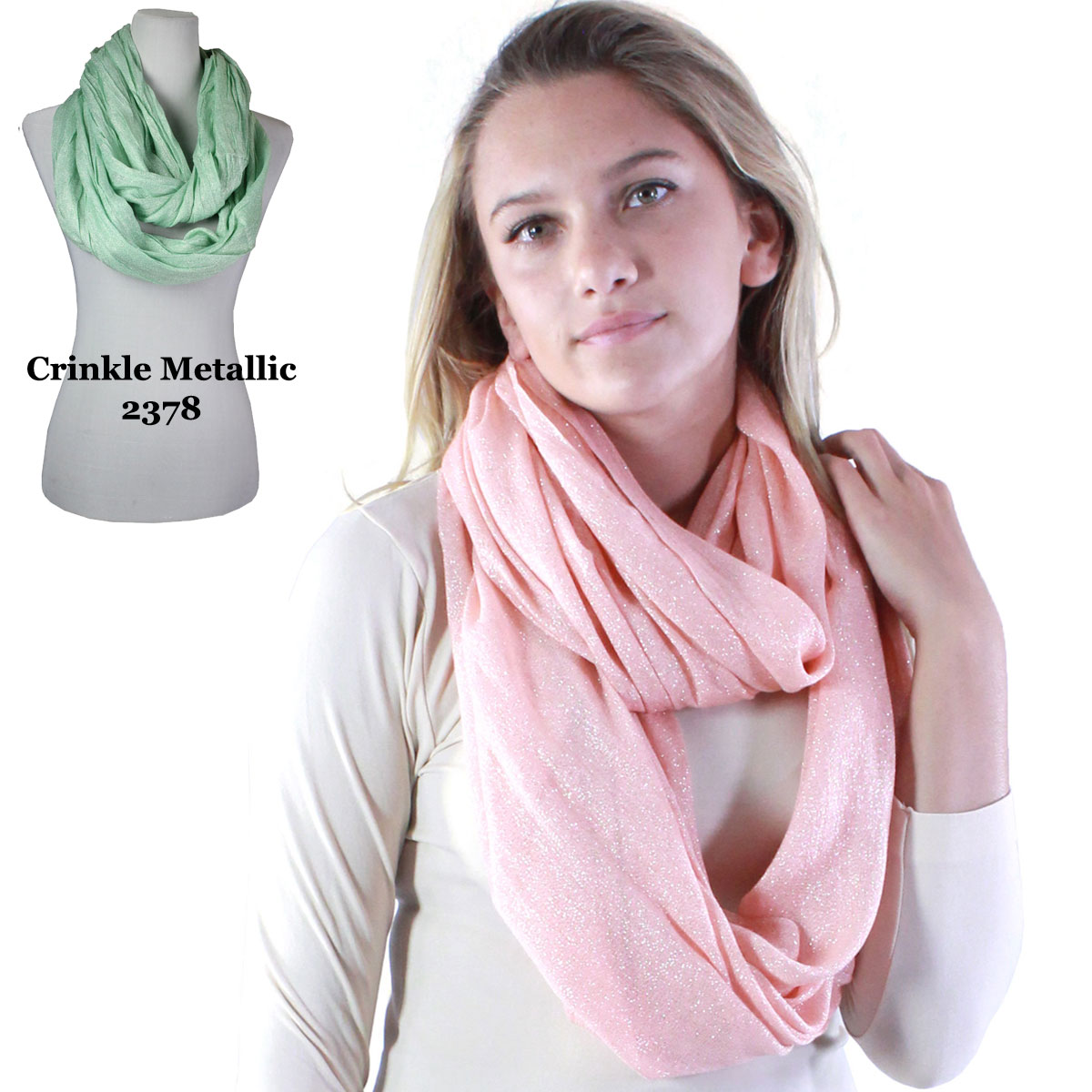 accessories black in knit gallery metallic normal lyst steve infinity madden scarves scarf product