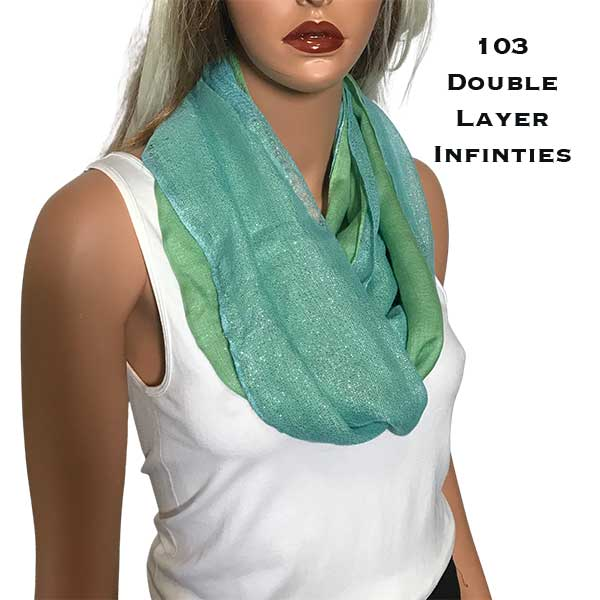 C Double Infinity Scarves - Glitter 103