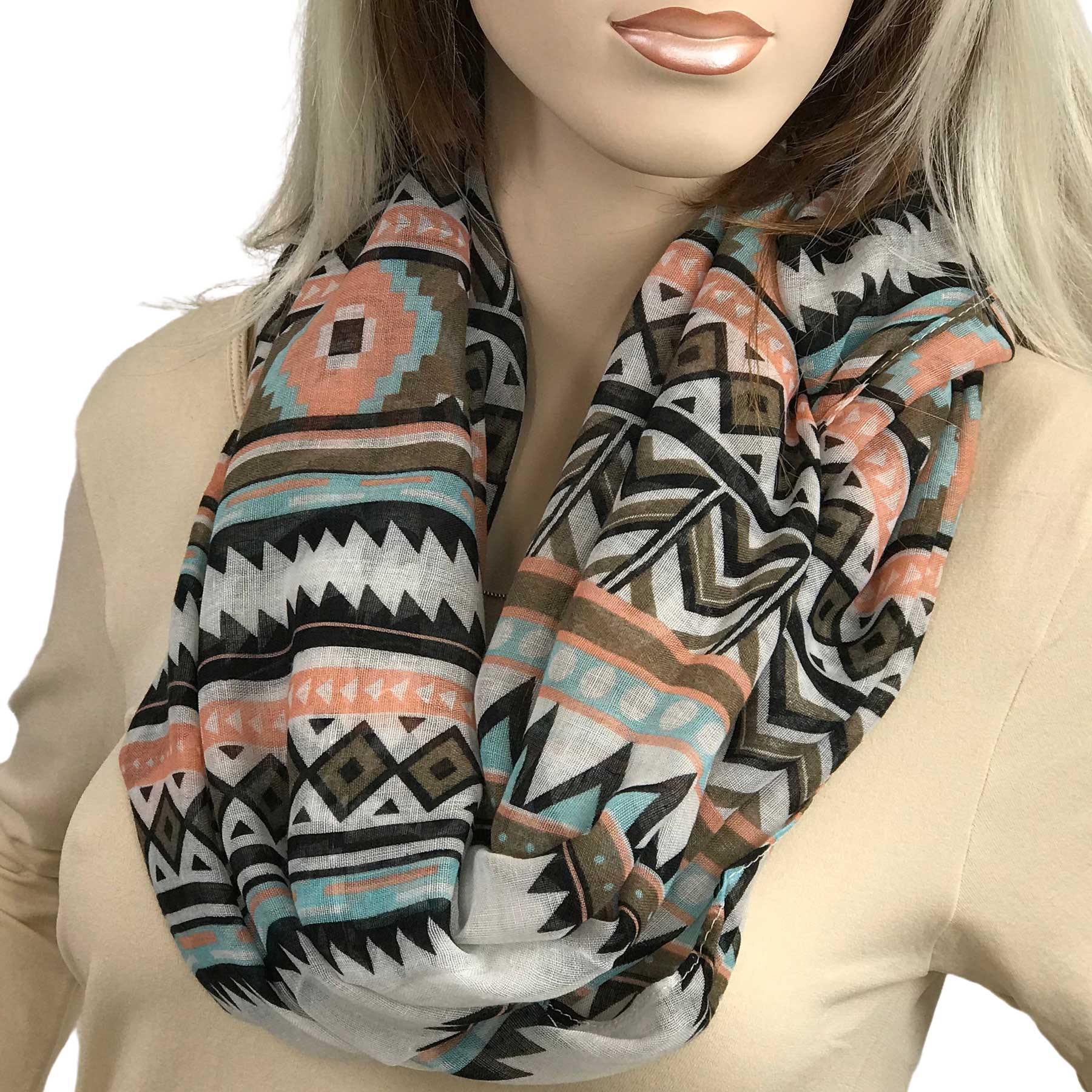 Infinity Scarves Wide - Aztec Chevron 3726