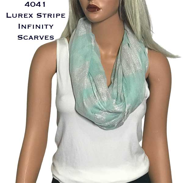 Infinity Scarves Wide - Lurex Stripe 4041
