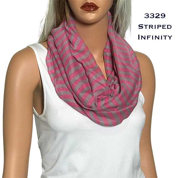 Infinity Scarves - Striped 3329