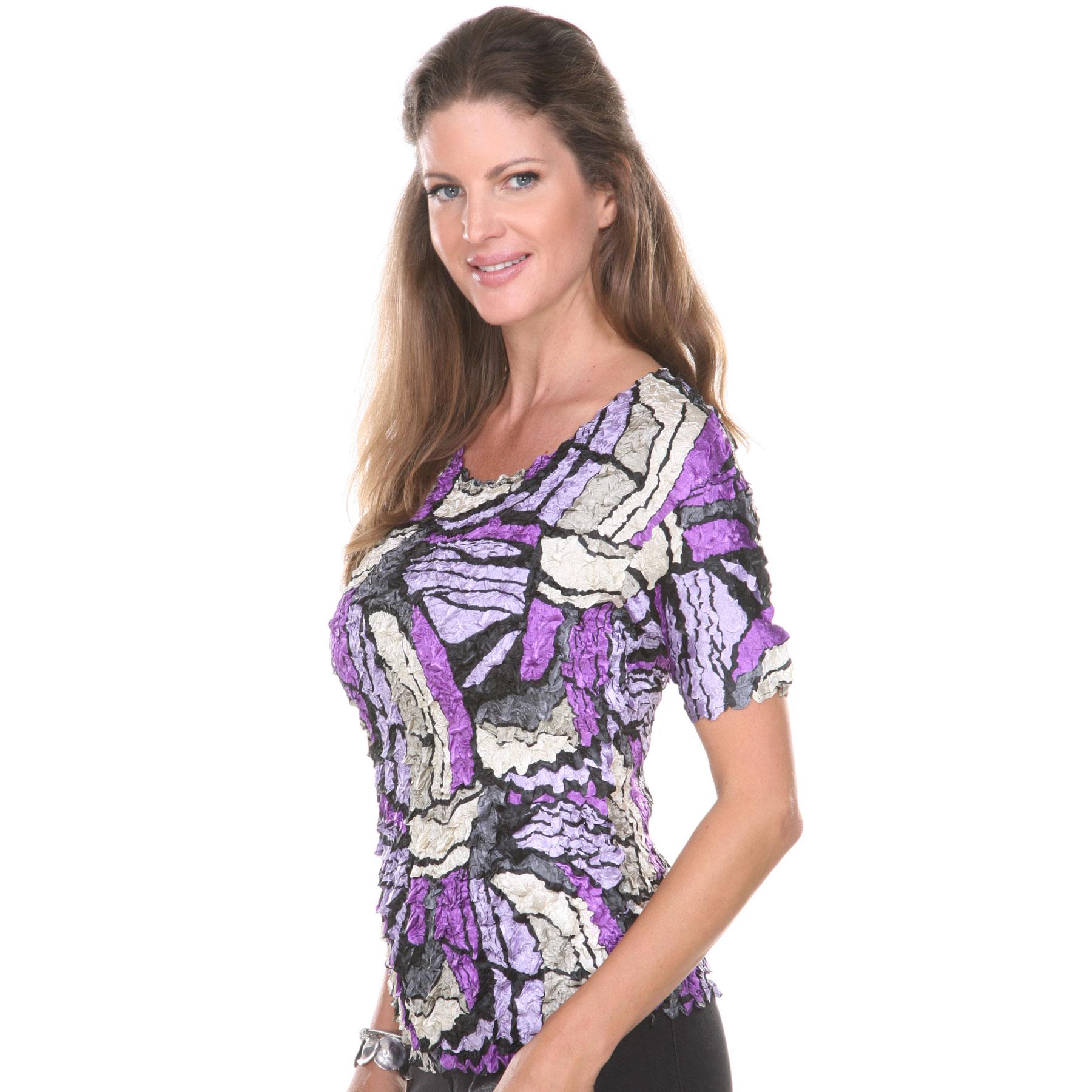 Satin Petal Shirts - Short Sleeve