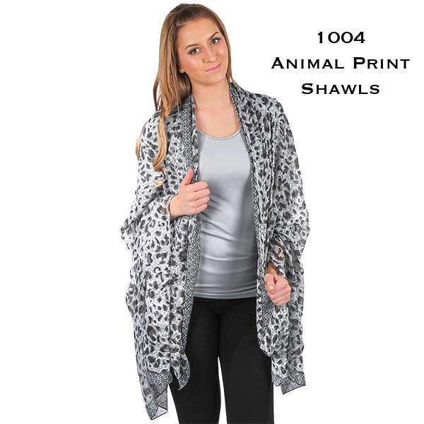 Big Scarves/Shawls - Animal Print 1004*