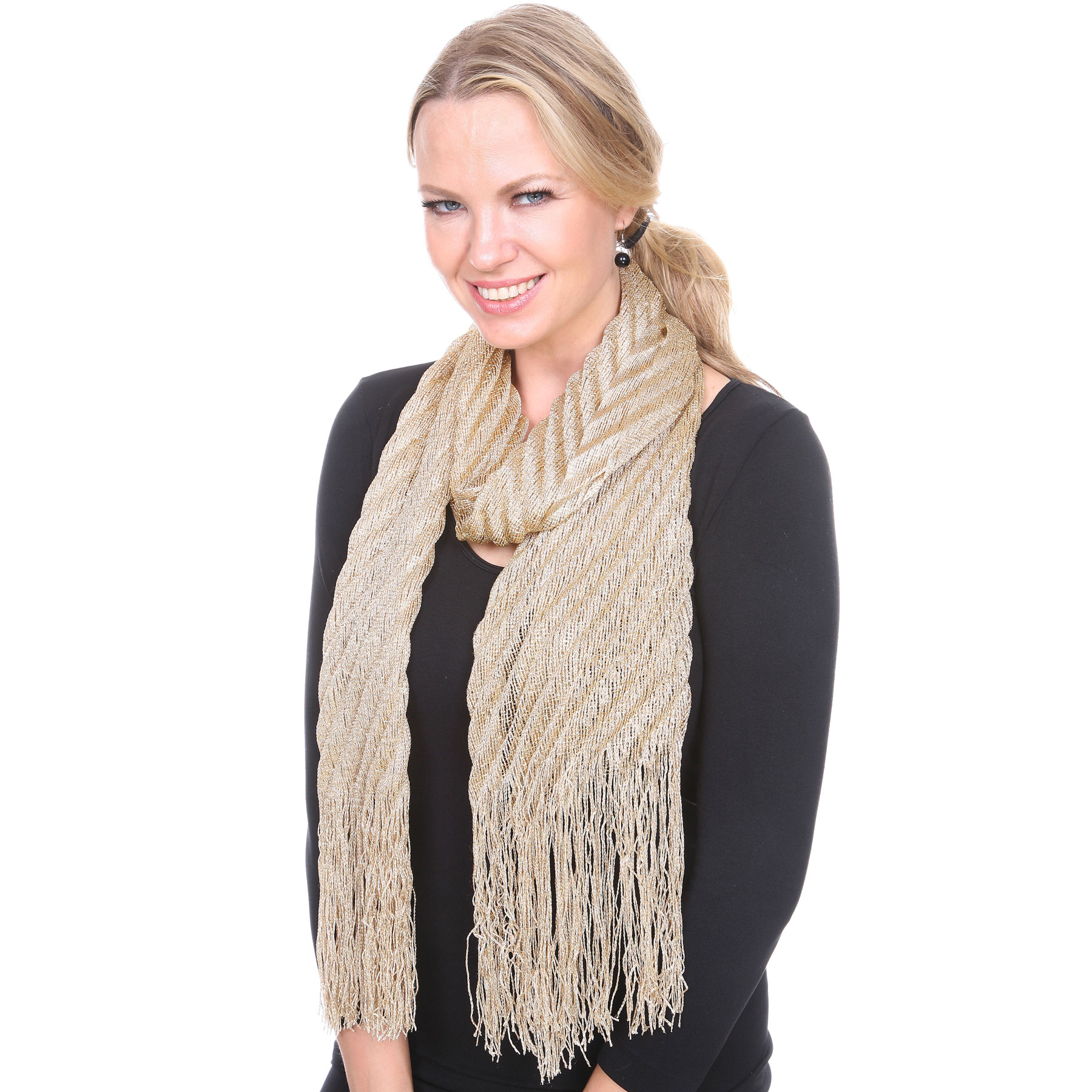 Oblong Scarves - Textured Metallic 475