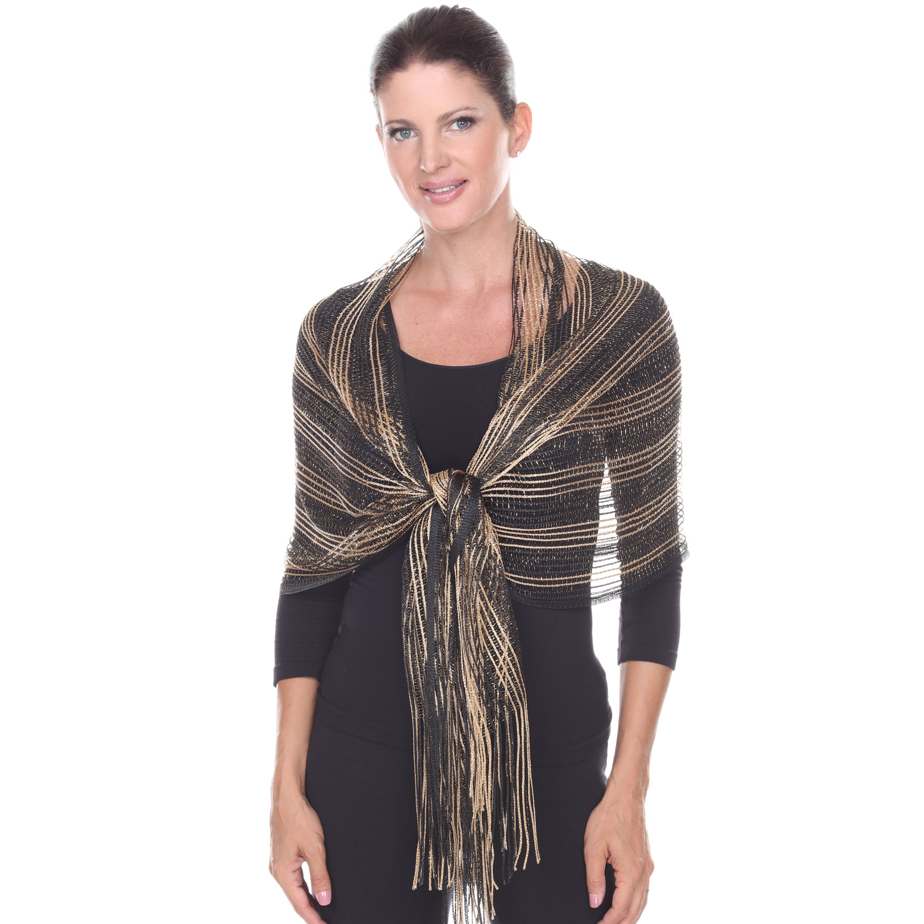 Oblong Scarves - Metallic Two Tone 249x001