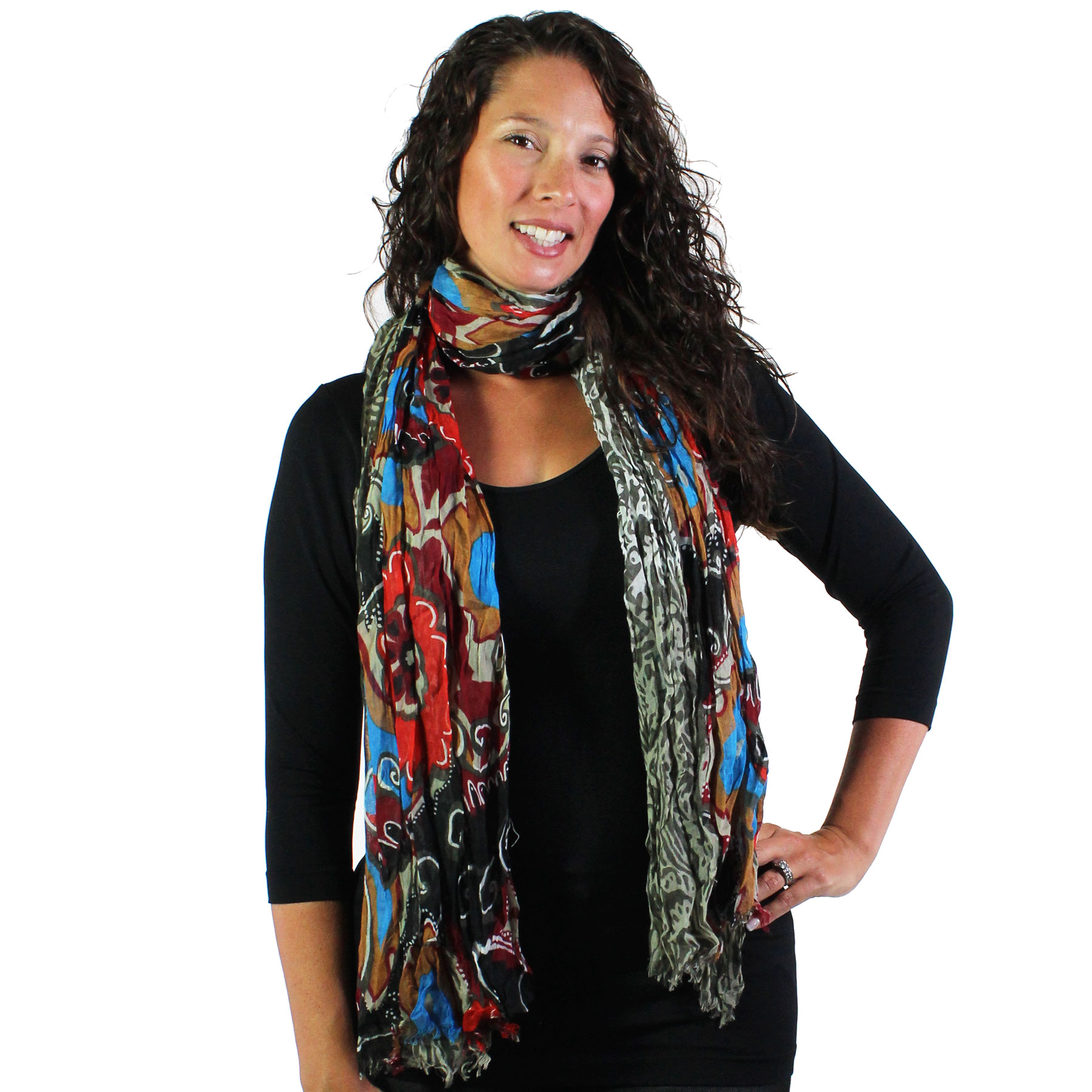 Oblong Scarves - Abstract Bohemian 1094