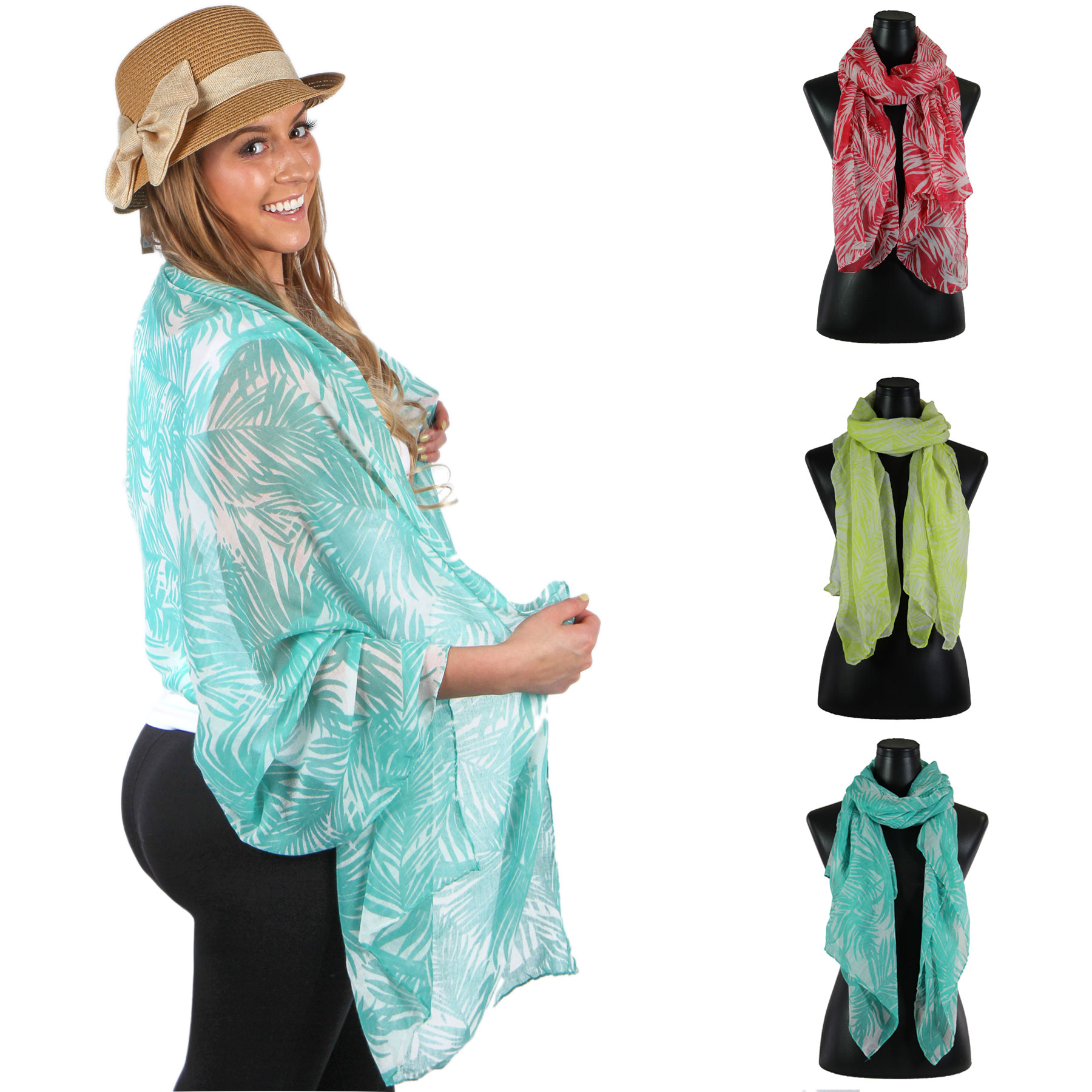 Big Scarves/Shawls - Palm Tree 8286